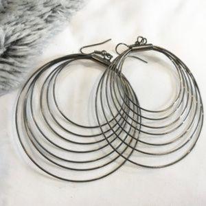 """BOGO!💃 2.5"""" Metal hoop earrings"""